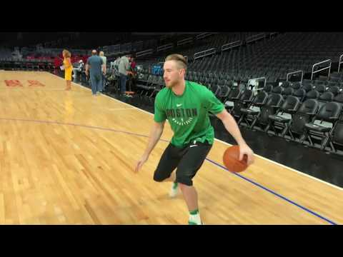 Gordon Hayward Warming Up in LA | Pre-Game Shootaround