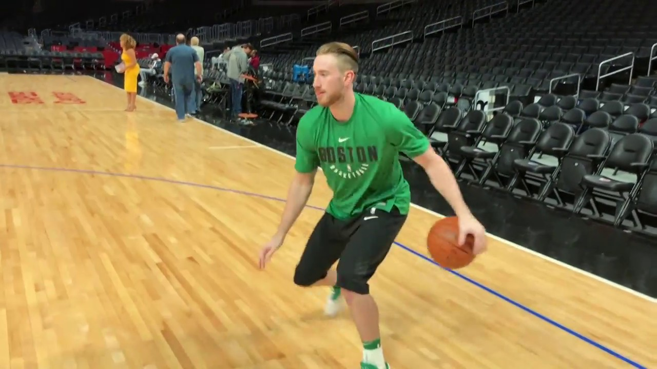 Gordon Hayward Warming Up In La Pre Game Shootaround Youtube