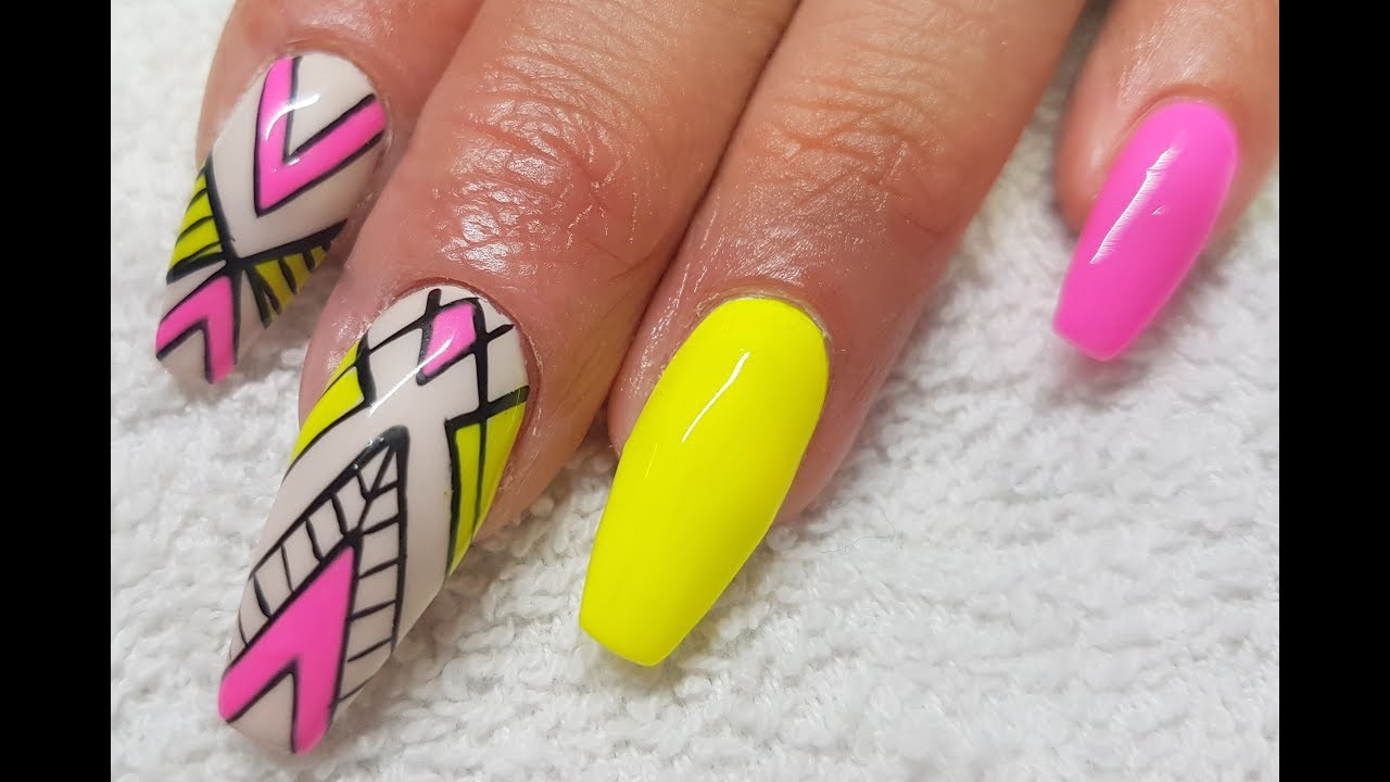 Acrylic infill l gel polish neon abstract l nail design youtube acrylic infill l gel polish neon abstract l nail design prinsesfo Choice Image