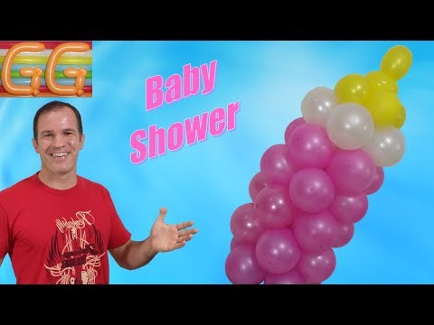 Bottle with balloons - How to make balloon baby bottle