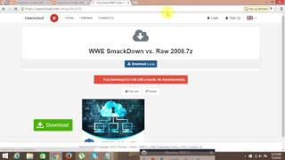 How To Download And Install WWE Smackdown Vs Raw 2008 Game - Free For PC Full Version