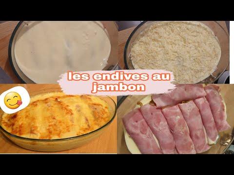 لأول-مرة-في-القنوات-العربية-وصفة-رائعة-وسريعة-غراتان-الأنديف les-endives-au-jambon