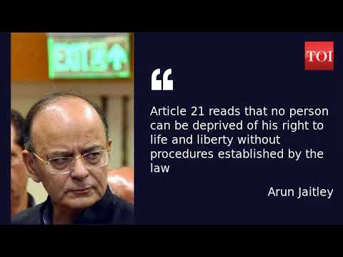 Arun Jaitley says Supreme Court's privacy judgment protects Aadhaar