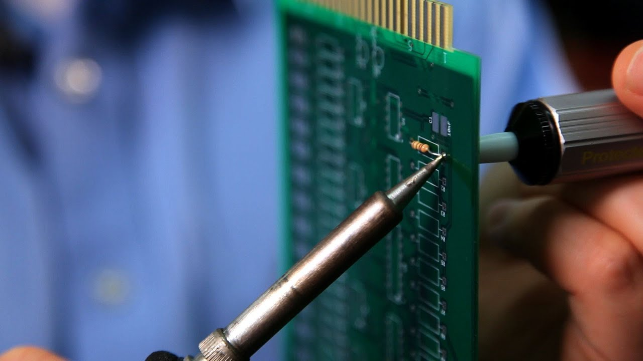 How To Remove Through Hole Components Soldering