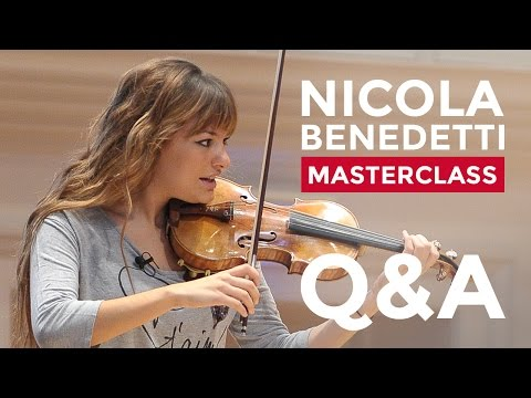 Q&A session with Nicola Benedetti at the RCM