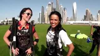 Fast and Furious star Michelle Rodriguez at Skydive Dubai!