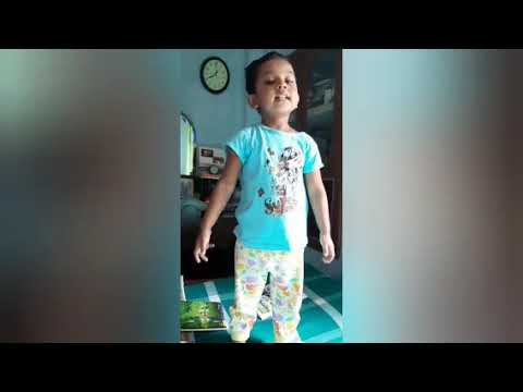 story telling , poem and dance by cute litlle