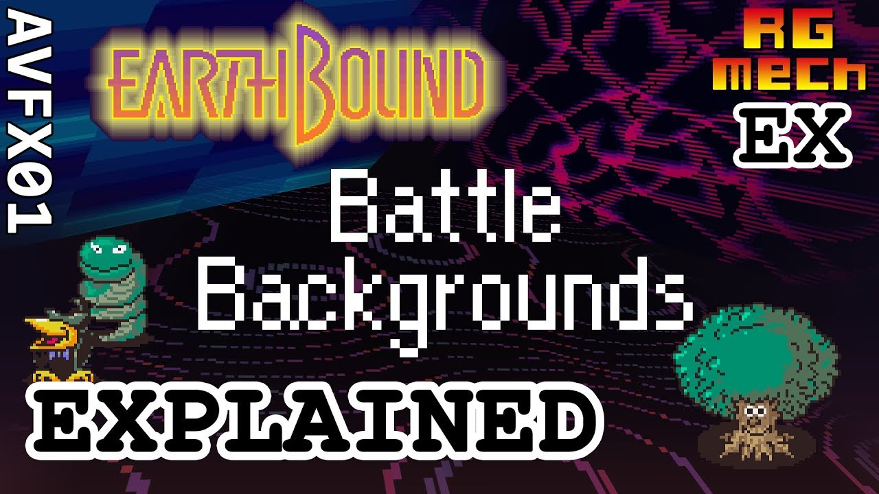 EarthBound Battle Backgrounds - Audiovisual Effects Pt  01