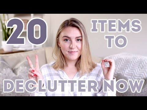 20 ITEMS TO DECLUTTER TODAY | Minimalism + Simple Living