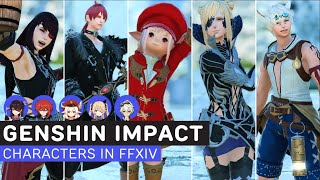 Genshin Impact Character Templates & Glamour in FFXIV