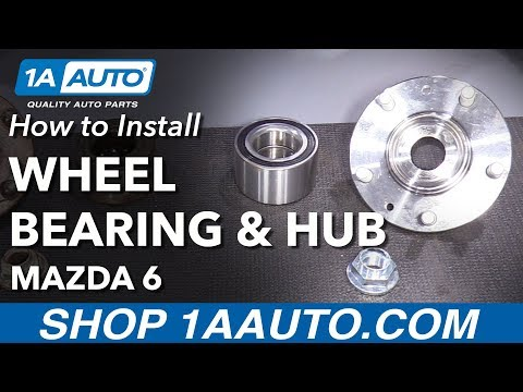 How to Install Replace Front Press In Wheel Bearing and Hub 2003-08 Mazda 6