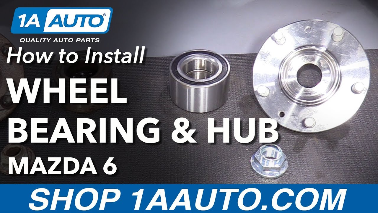 how to replace front wheel bearing and hub 2003 08 mazda 6 [ 1280 x 720 Pixel ]