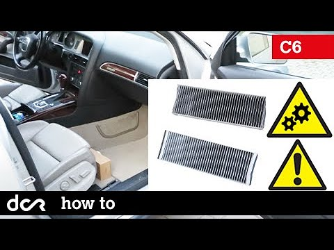 How to replace Cabin Air Filter – Audi A6, S6, RS6 C6 – 2004-2011