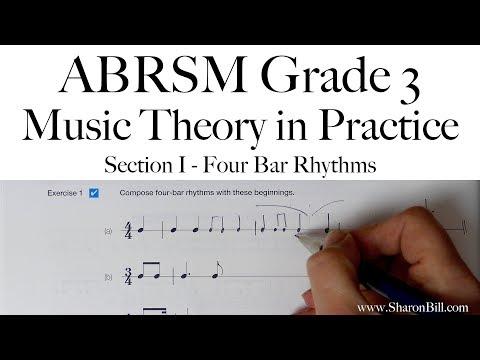 ABRSM Grade 3 Music Theory Section I Four Bar Rhythms With Sharon Bill
