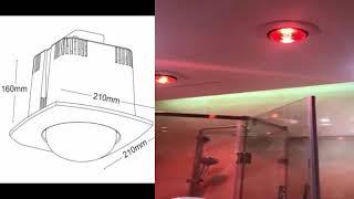 Hướng dẫn lắp đặt đèn sưởi nhà tắm âm trần 1 bóng - 09 61 430 111