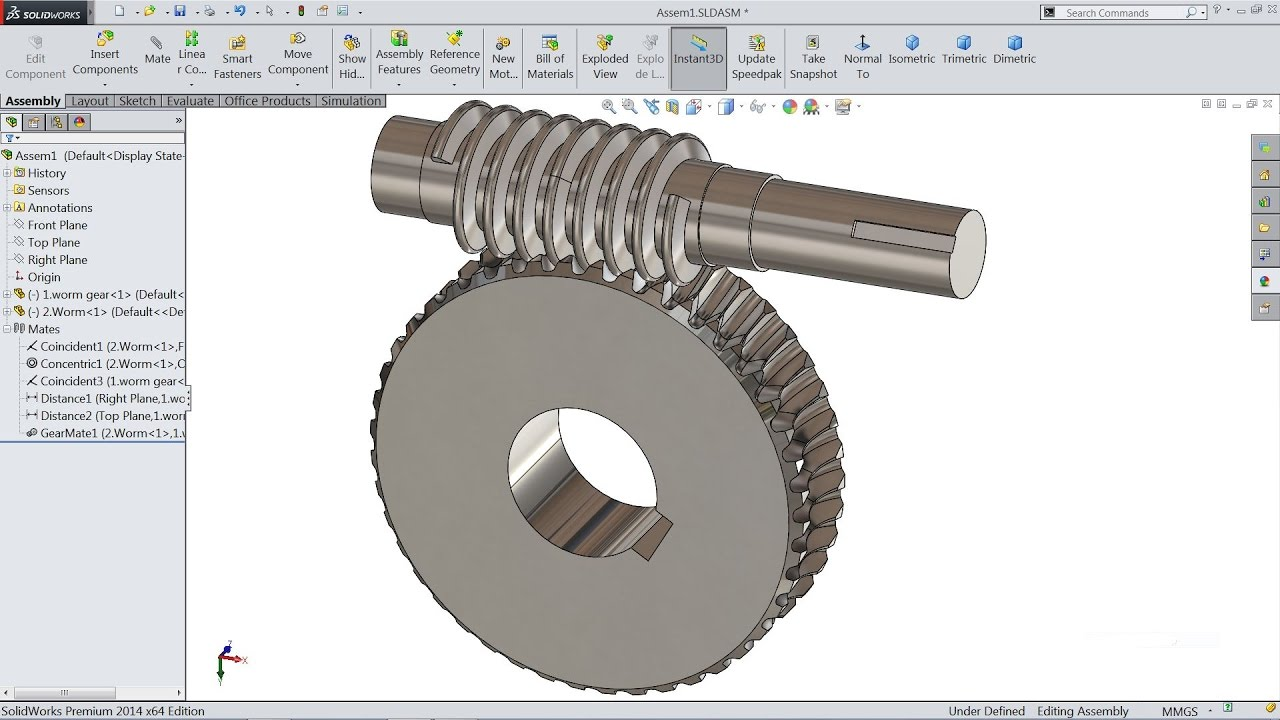 Solidworks tutorial assembly #1.
