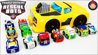 Transformers Rescue Bots Academy Transforming Bumblebee Flip Racers