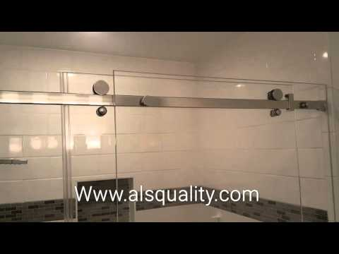 Serenity Custom frameless sliding shower door enclosure crl
