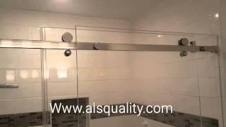 Serenity Custom Frameless Sliding Shower Door Enclosure Crl