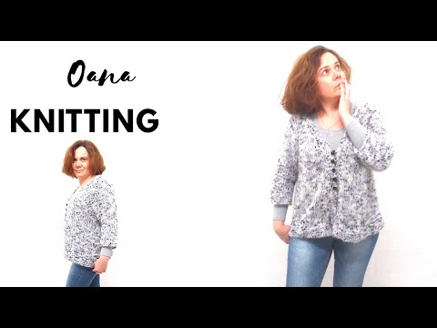Knitted pompom cardigan by Oana second part