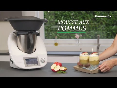 la mousse aux pommes au thermomix tm5 recette issue des cours de cuisine youtube. Black Bedroom Furniture Sets. Home Design Ideas
