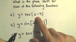 Graphing Sine and Cosine with Phase (Horizontal) Shifts, Example 1