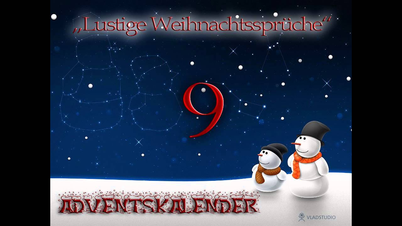 adventskalender 9 lustige weihnachtsspr che youtube. Black Bedroom Furniture Sets. Home Design Ideas