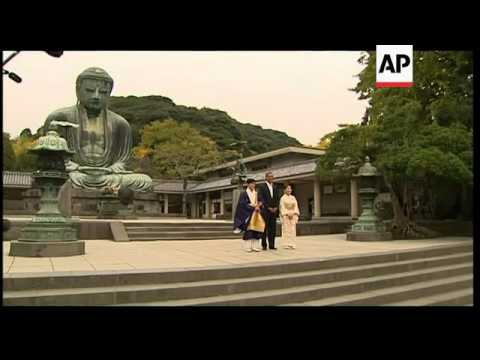 President at site of sacred Buddha he first visited at age 6