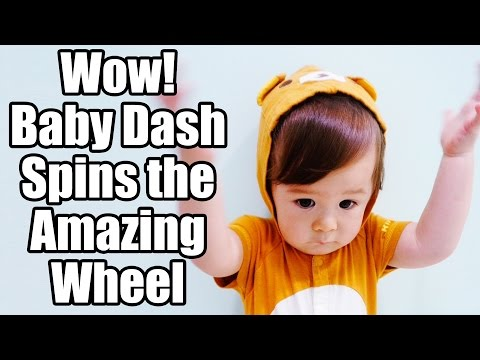 Wow! Baby Dash Spins The Amazing Wheel (1yr 4m)