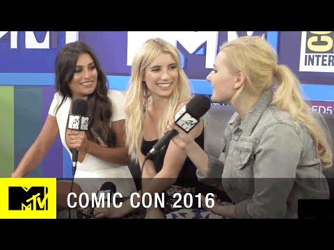 Emma Roberts, Abigail Breslin & Lea Michele on Scream Queens Season 2  Comic Con 2016  MTV