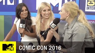 Emma Roberts, Abigail Breslin & Lea Michele on Scream Queens Season 2 | Comic Con 2016 | MTV