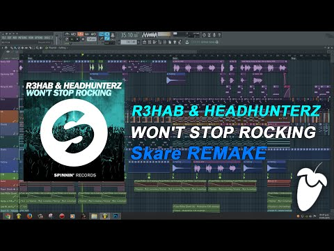 R3hab & Headhunterz - Won't Stop Rocking (Original Mix) (FL Studio Remake + FLP)