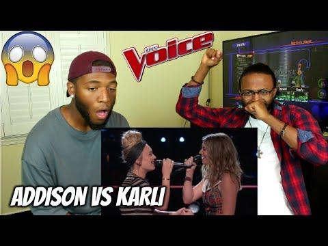 The Voice 2017 Battle - Addison Agen vs. Karli Webster:
