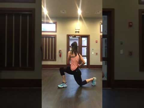 Jump lunge with core rotation - YouTube
