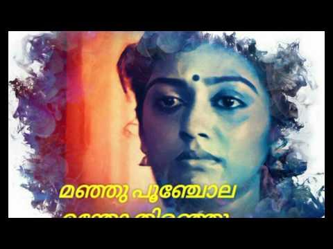 Romantic whatsapp status - Malayalam cover - Kanneer poovinte - Lyrics malayalam 😍😍