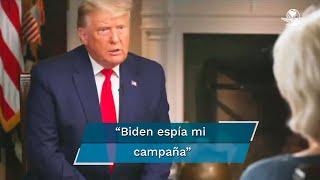 Se dio a conocer el video del momento en el que el presidente de EU sostiene una tensa charla con la periodista de CBS, Lesley Stahl
