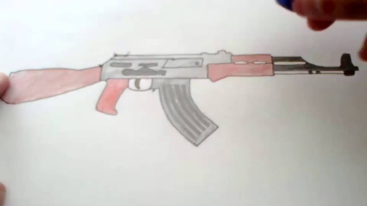 Silah çizimi 2 Kahalashnikov Ak 47 Youtube