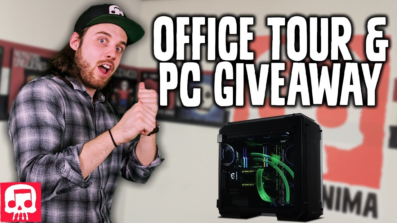 JT MUSIC OFFICE TOUR and Gaming PC Giveaway - YouTube