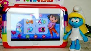 Видео для малышей с игрушками. Смурфета и Детский планшет от TurboKids - Даша путешественница