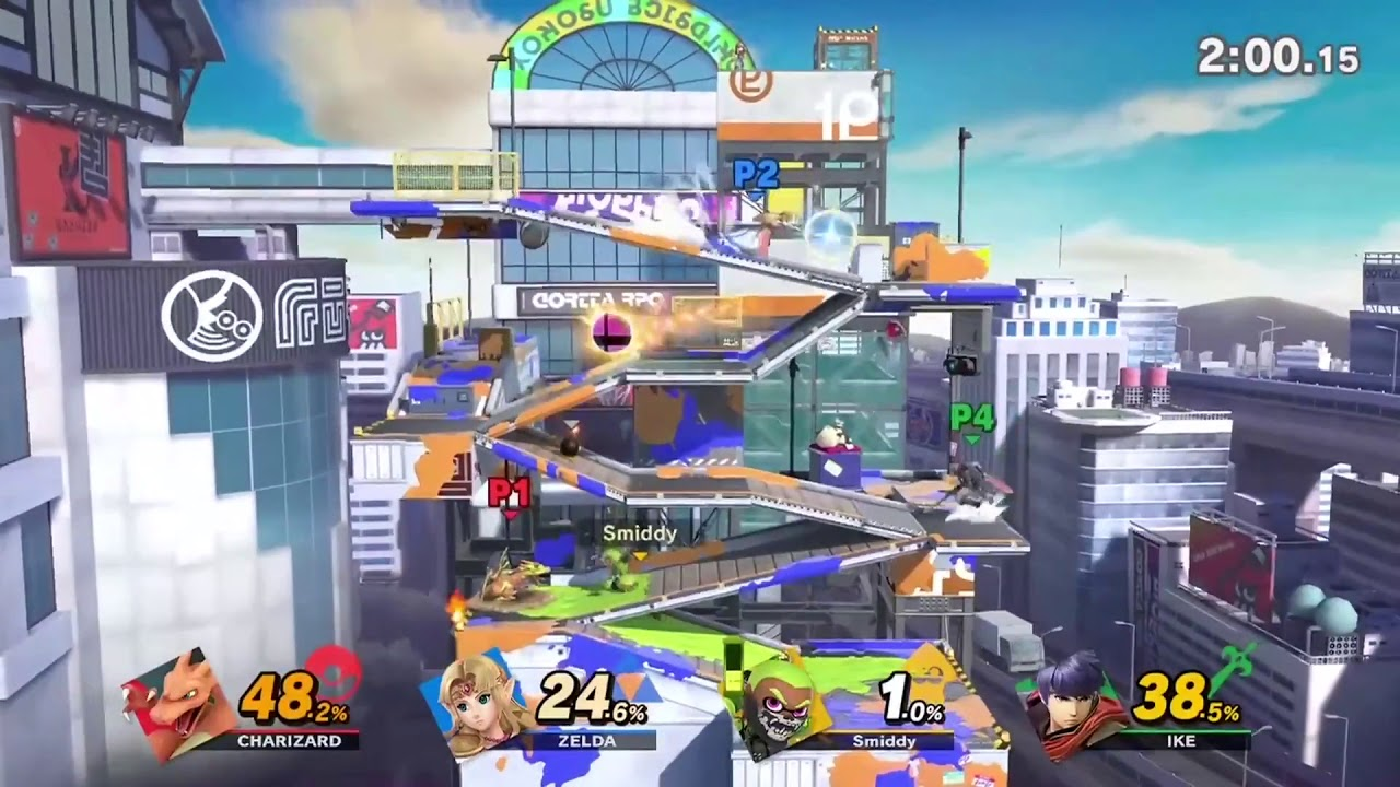 Super Smash Bros. Ultimate Inkling Gameplay on Splatoon Stage - E3 2018