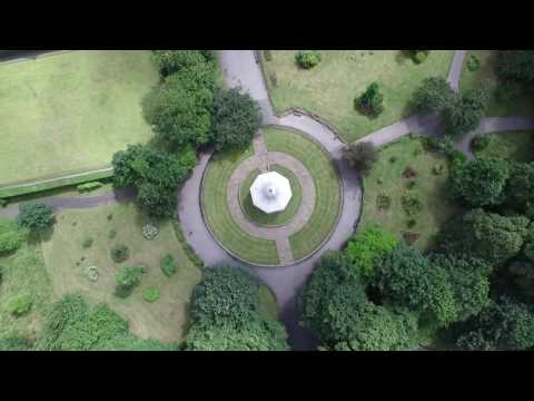 DERBY PARK BANDSTAND, BOOTLE, LIVERPOOL, POI, SPINNING DRONE FOOTAGE