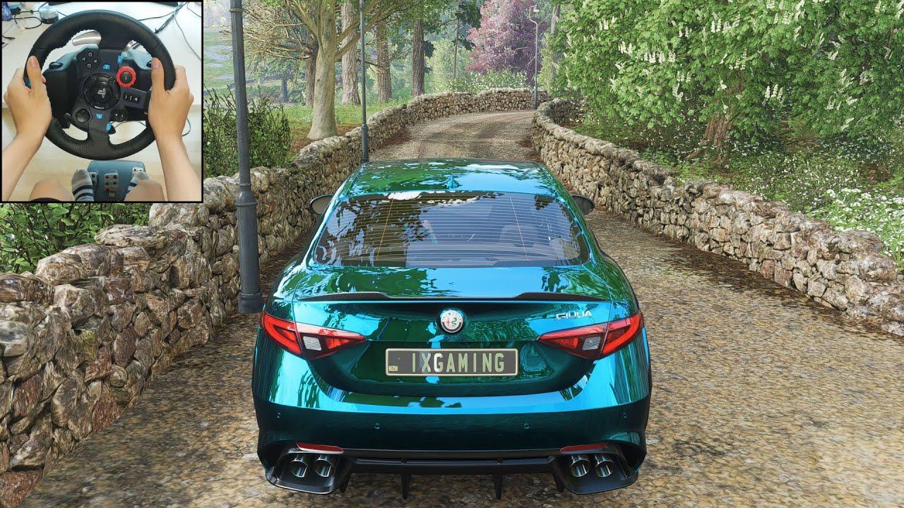 Forza Horizon 4 Alfa Romeo Giulia Quadrifoglio FE (Logitech G29 Steering Wheel) Gameplay thumbnail