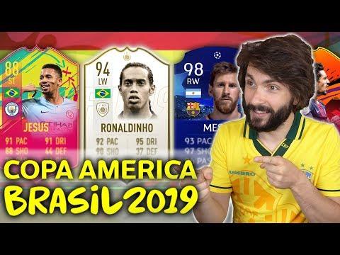 COPA AMERICA FINALE DRAFT CHALLENGE! FIFA 19