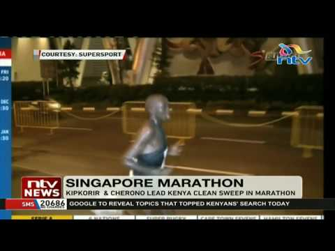 Kipkoriri and Cherono lead Kenya clean sweep in Singapore marathon