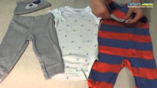 Комплект Carter's для новорожденных(Обзор универсального набора для младенцев 4в1. Слип, бодик, штанишки и шапочка. Всю, необходимую младенцу..., 2015-08-13T19:46:41.000Z)