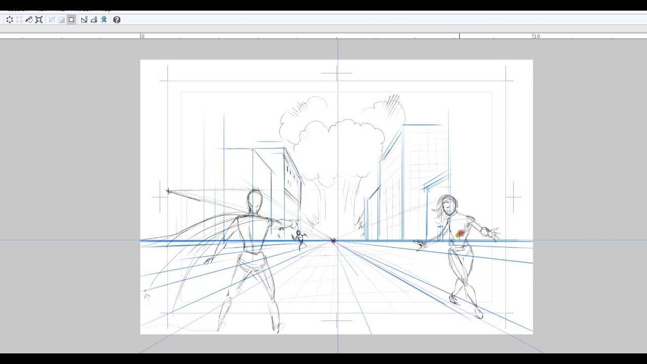 drawing comic book panels with single point perspective youtube