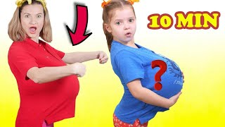 We ate too much and more pretend play compilation videos for kids from Nicole  اكلنا كتير