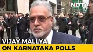 What Fugitive Tycoon Vijay Mallya Said On Election In Karnataka