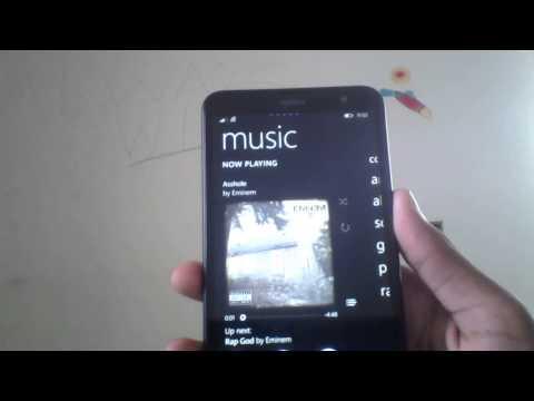 Windows phone 8.1 updated music and video hub