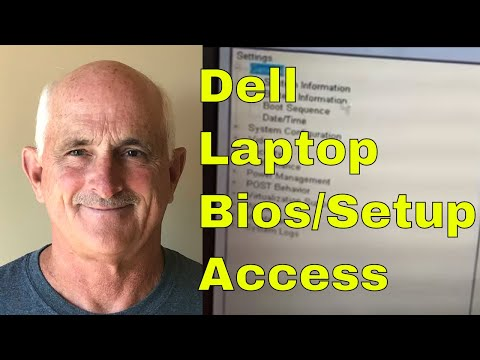 How to get into system setup or BIOS on a Dell laptop - YouTube